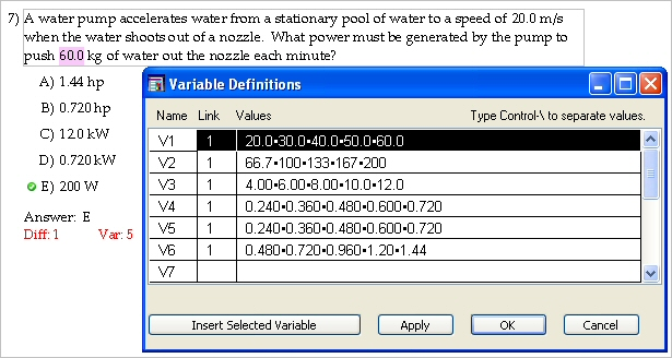 Defining And Inserting Variables